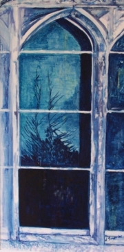 Title : Windows with Blue Reflection I