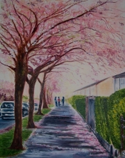 Title : Blossoms at their Feet