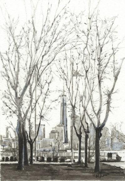 New York - so near and yet so far by Monica Jones Artist
